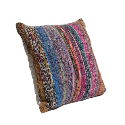 Recycled Vintage Sari Pillow - Square