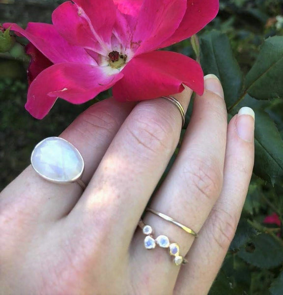 Ring:  Across the Sky Moonstone Ring