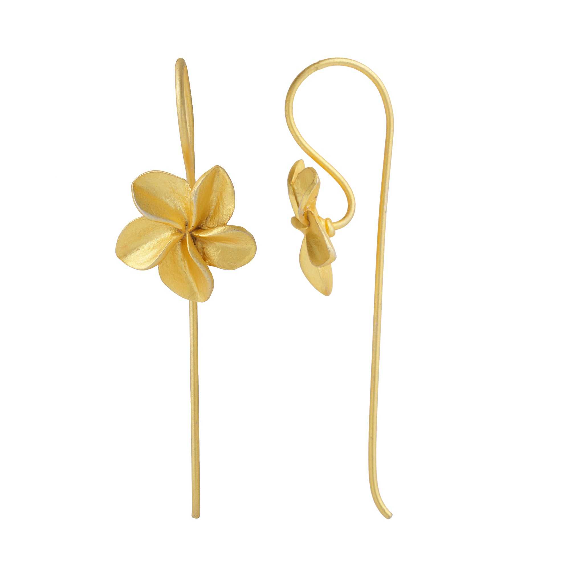 Plumeria Threader Earrings