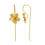 Load image into Gallery viewer, Plumeria Threader Earrings