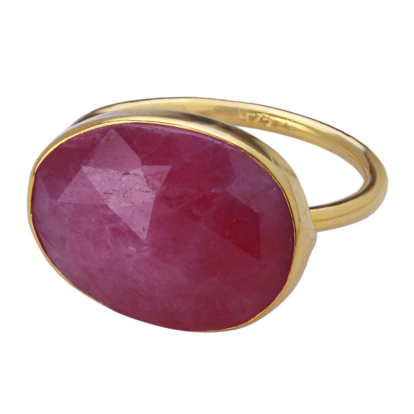 Ring: Gold Plated Sterling and Wonder Sapphire