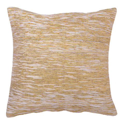 Metallic Copper Vintage Sari Pillow - Square