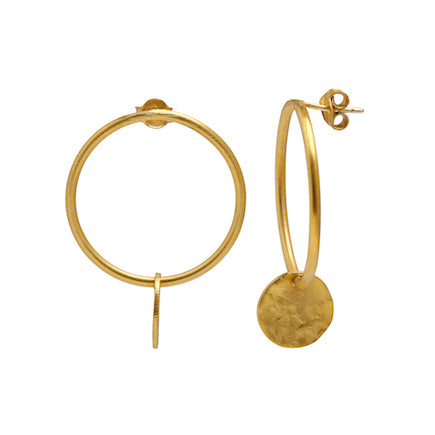 Earrings:  Over the Moon - gold