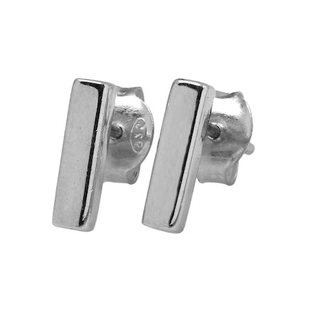 Earrings: Sterling Silver Bar Studs