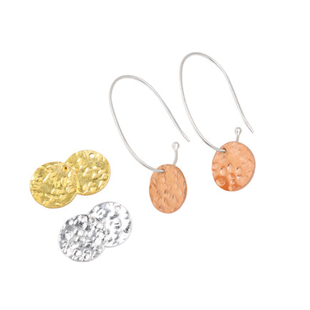 Earrings: Interchangeable Disc Hoops