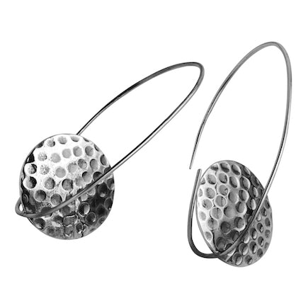 Earrings: Sterling Silver Standing Disc