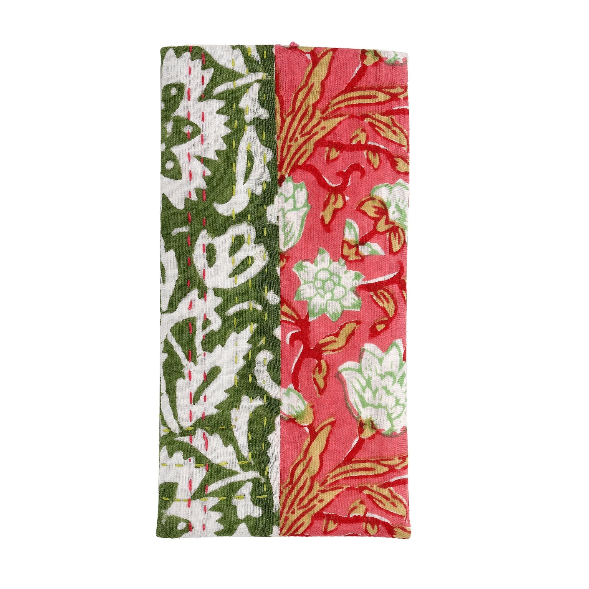 Ivy Green & Pink Floral Glasses Case