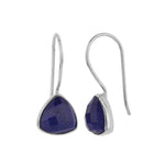Load image into Gallery viewer, Lapis Lazuli Triangle Earrings