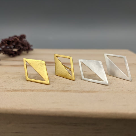 Mirrored Triangle Earrings