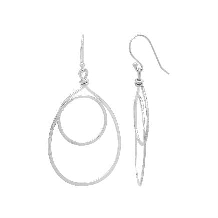 Earrings: Sterling Silver Double Loop