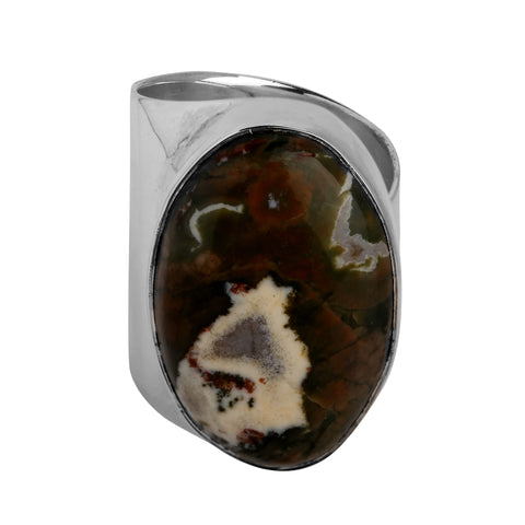 Rainforest Jasper Cuff Ring