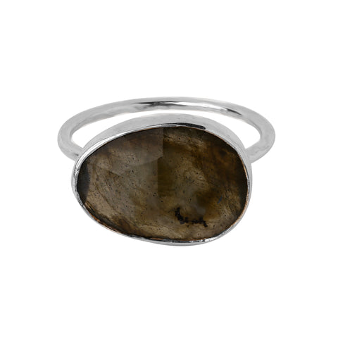 Ring: Sterling Silver Labradorite