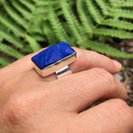Load image into Gallery viewer, Lapis Lazuli Cuff Ring