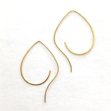 Earrings:  Pipal Leaf Brass Threader