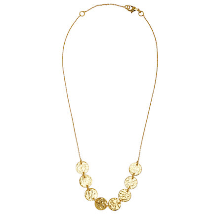 Necklace:  Mini Disc - gold plated