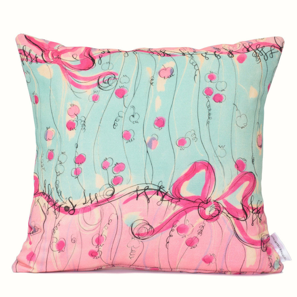 Pink Bows Cushion Cover