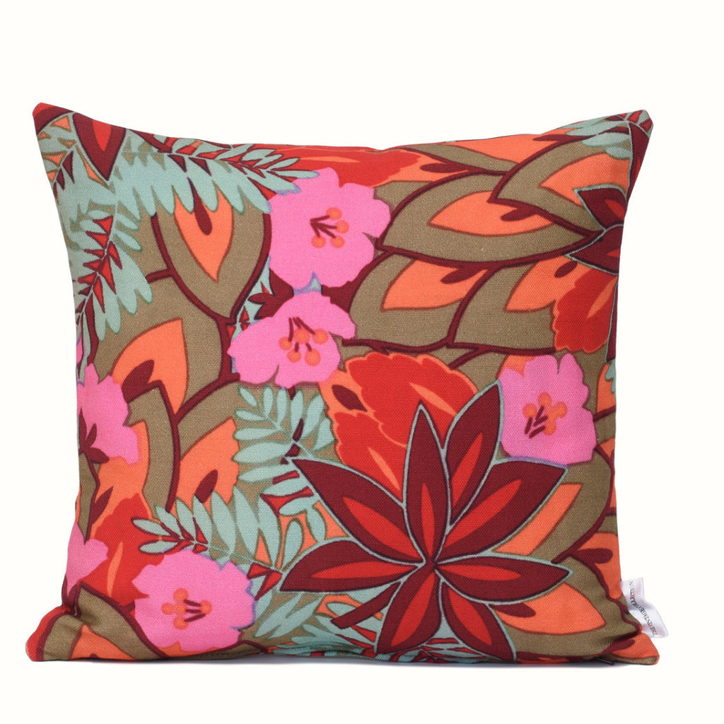 Tropical Floral Cushion Cover