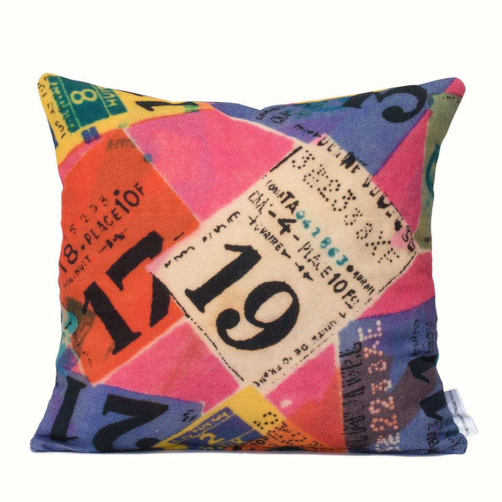 Travel Tickets Cushion Cover