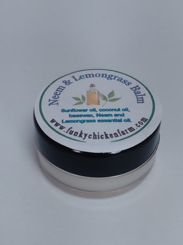 Neem and Lemongrass Balm Scent Pot  1/3 oz Size