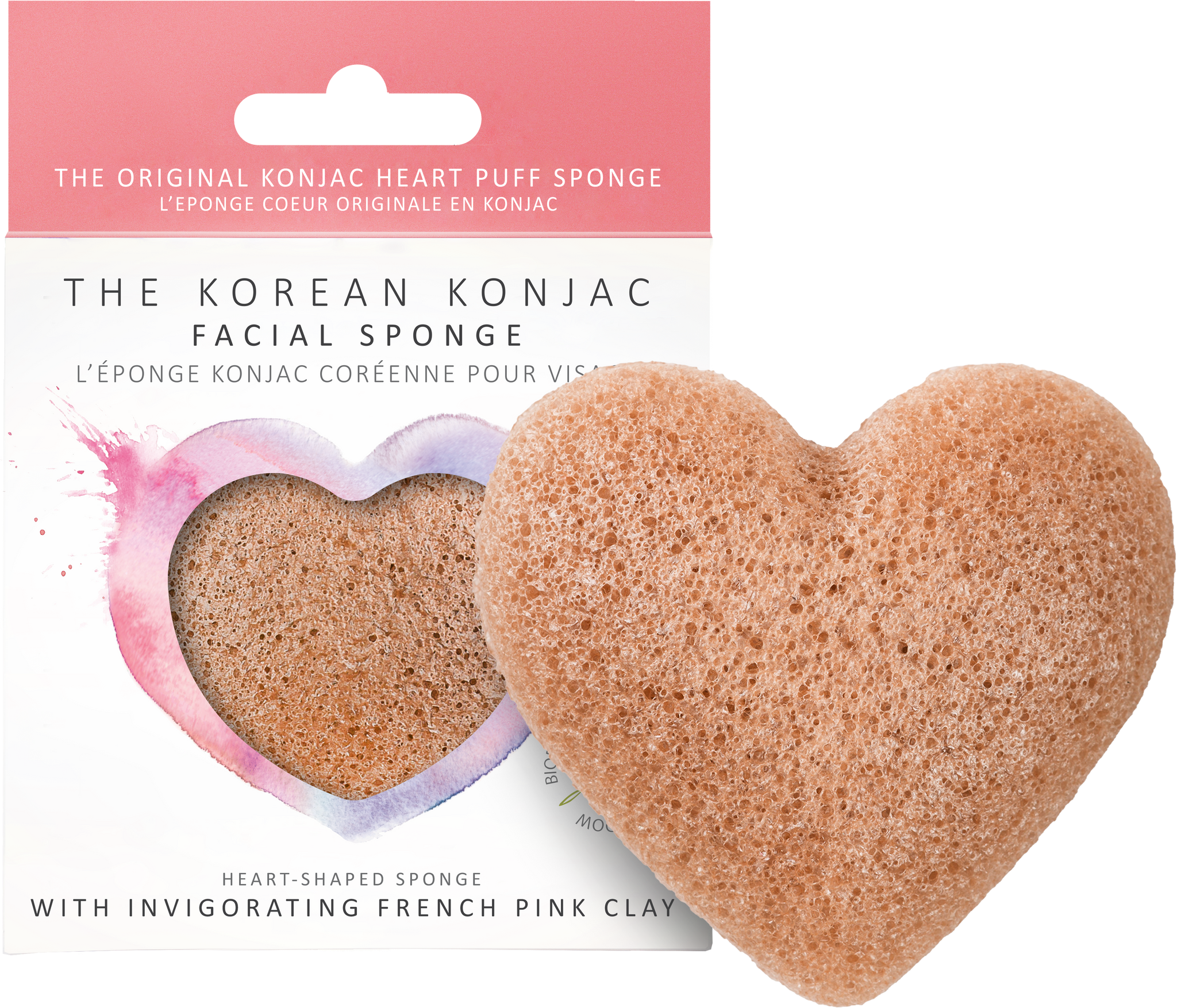 Pink French Clay Cleansing Sponge
