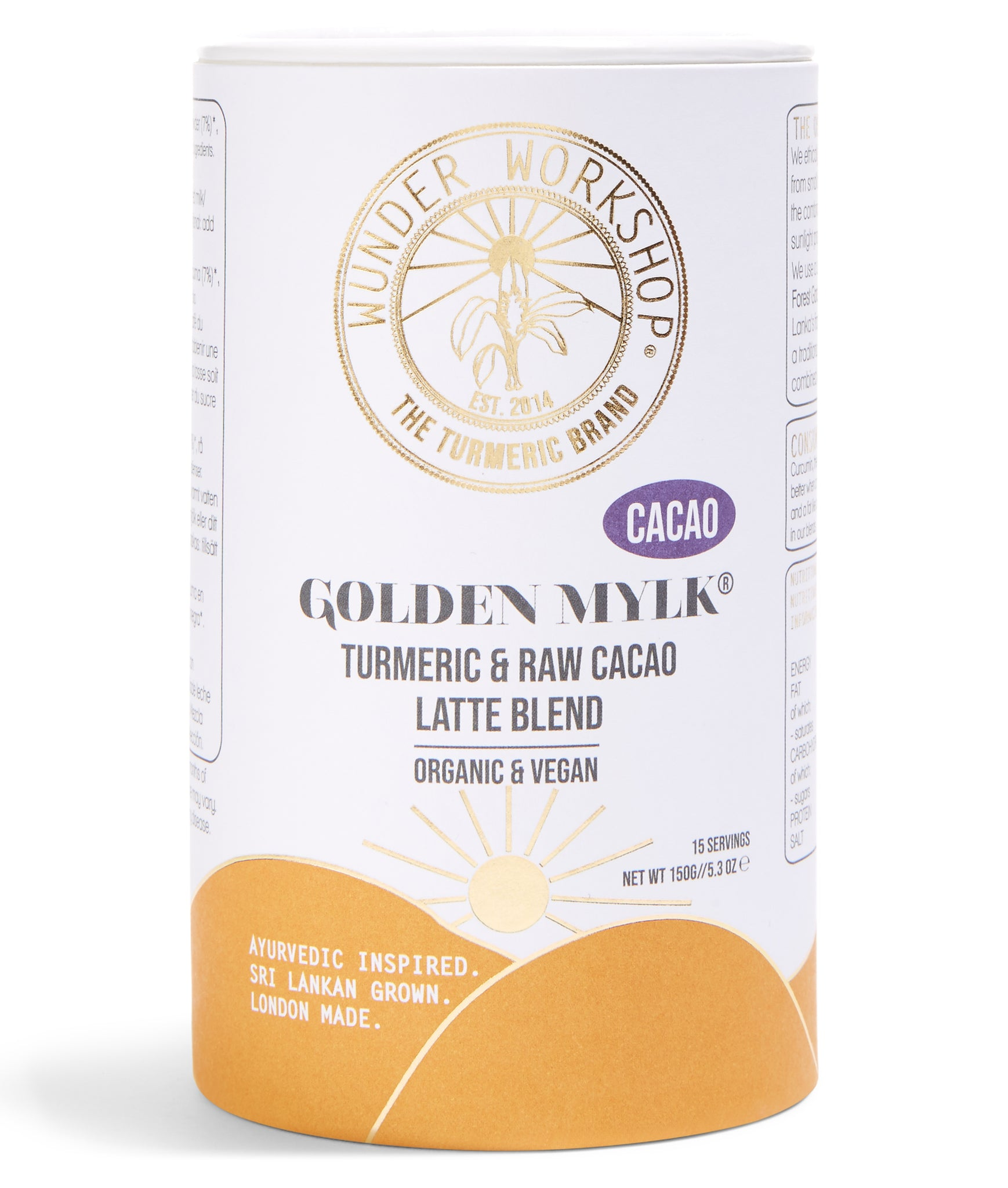 Wunder Workshop Golden Mylk Turmeric Cacao Latte - 150g