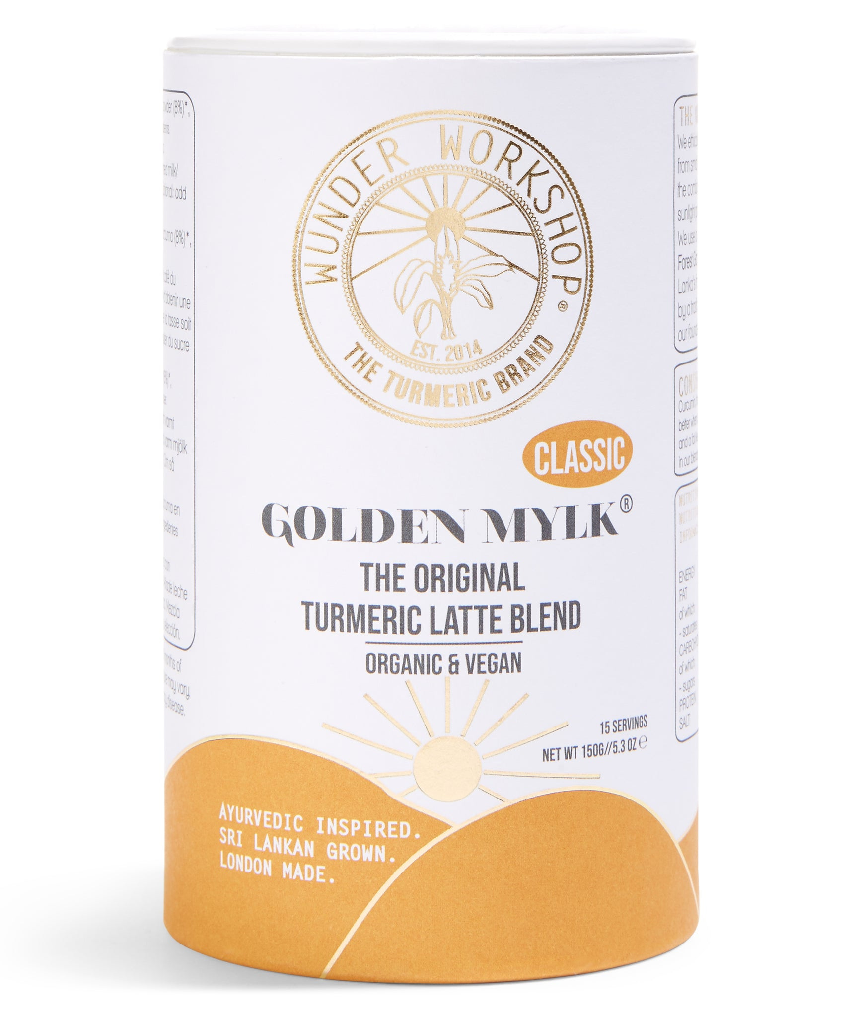 Wunder Workshop Golden Mylk Turmeric Latte Blend - 150g