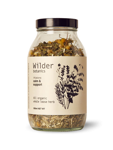 Wilder Botanics Calm and Support Tea Infusion, 500ml
