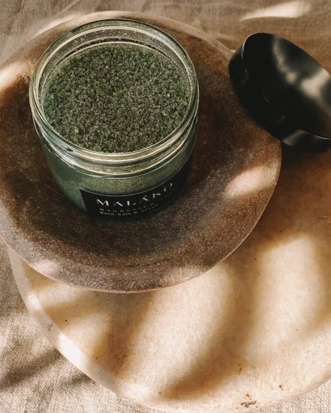 Magnesium and Spirulina Bath Salt & Scrub