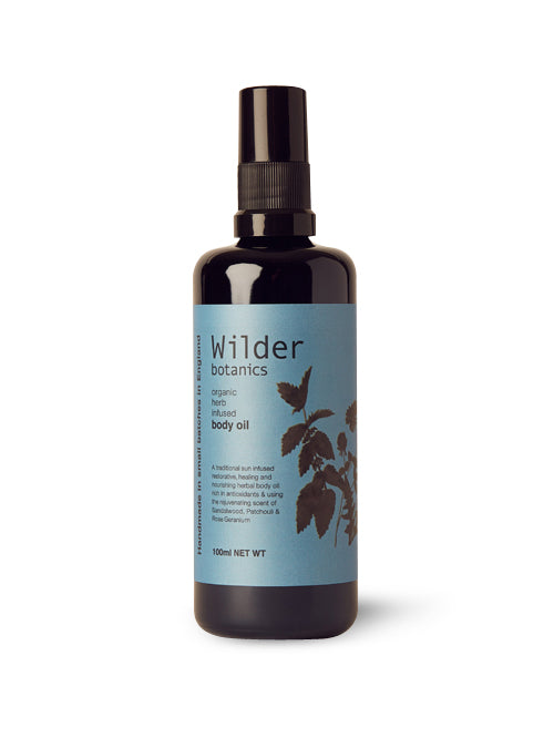 Wilder Botanics Organic Herb Infused Body Oil, 100ml