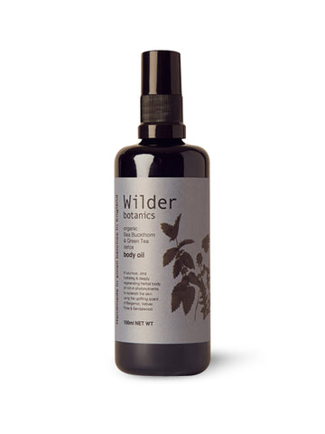 Wilder Botanics Organic Sea Buckthorn and Green Tea Detox Body Oil, 100ml