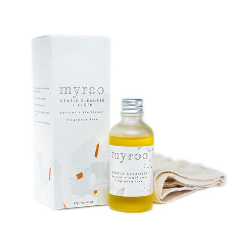 Myroo Gentle Cleanser and Cloth - fragrance free