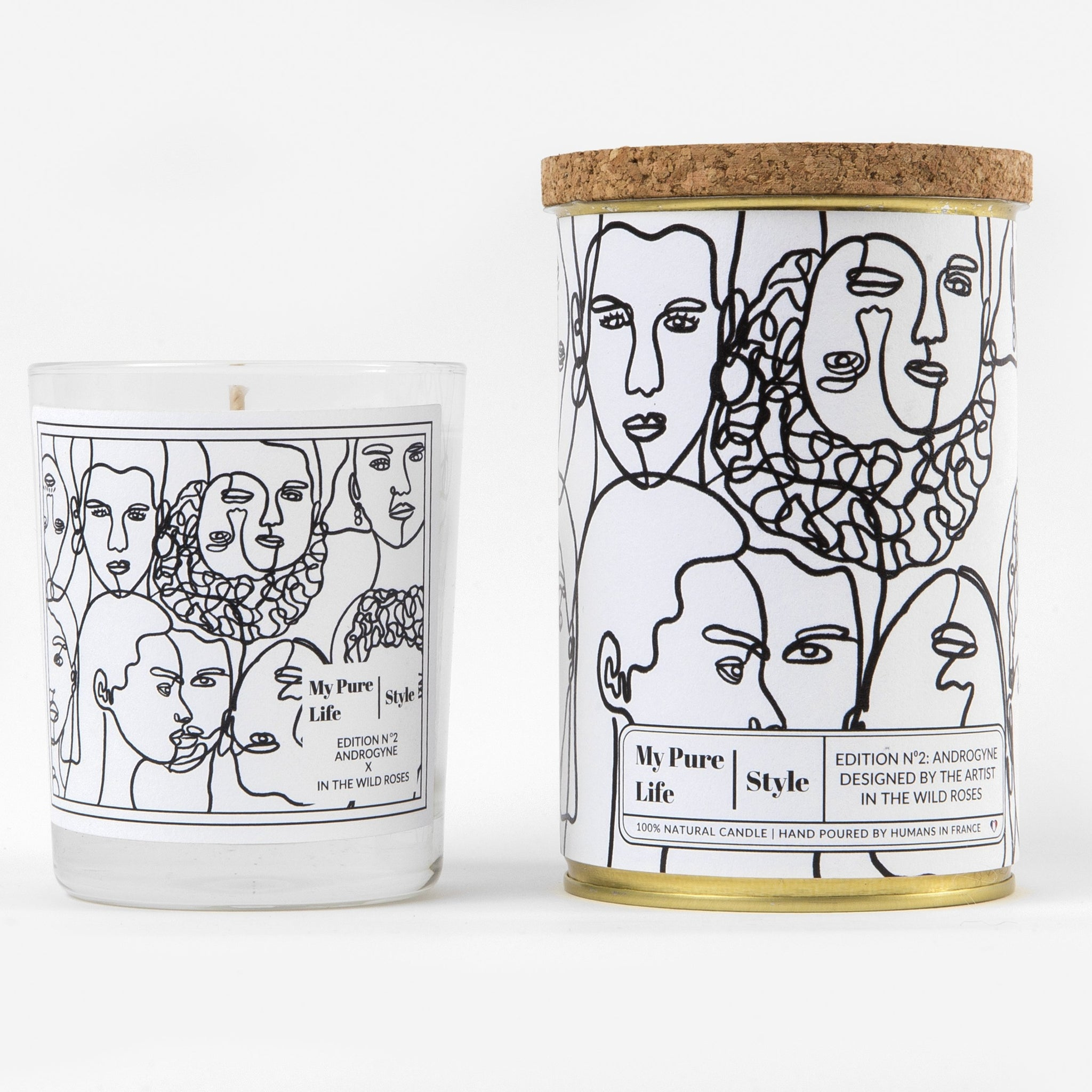 Androgyne Purifying Candle in White