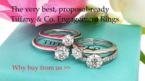 Bloomsbury Manor pre-owned secondhand Tiffany Engagement Rings, why buy from us?