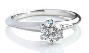 Tiffany & Co. 0.47ct I/VVS1 Triple XXX Round Brilliant Diamond Engagement Ring