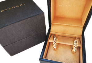 Bulgari Spiga Earrings in 18k Yellow Gold