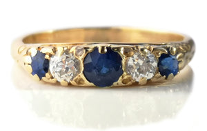 Antique Victorian Sapphire Engagement Ring