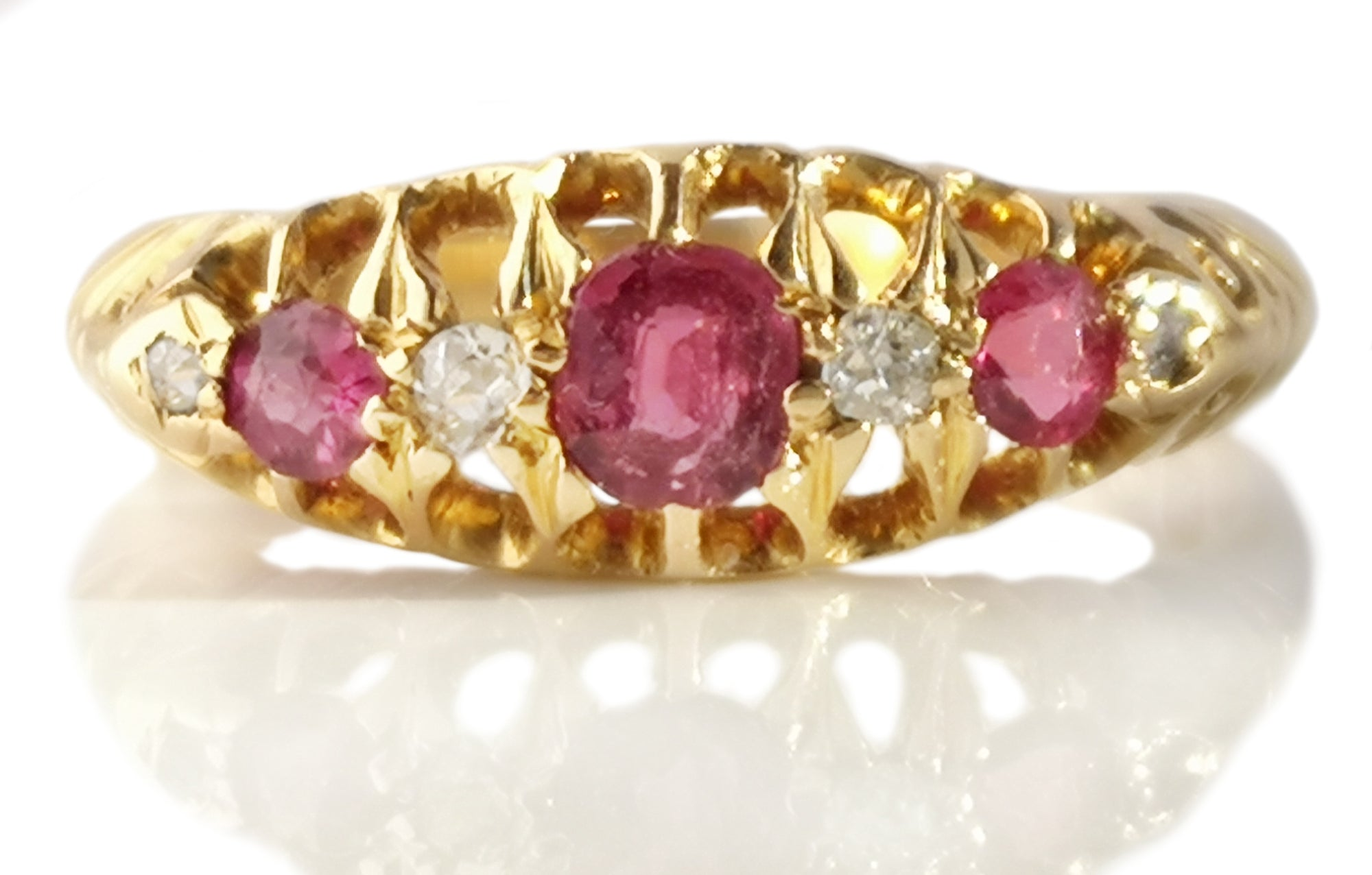 Antique Victorian Ruby Engagement Ring