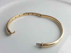 Tiffany & Co. 'Etoile' Diamond Bangle / Bracelet, in 18K Gold & Platinum