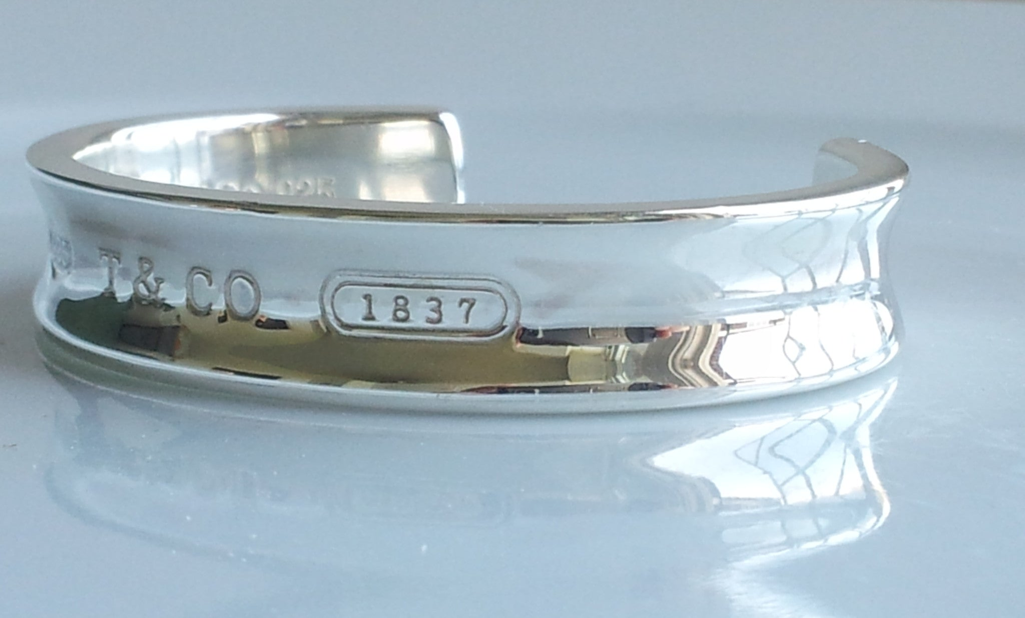 c6ff7682b Tiffany & Co 1837 Sterling Silver Cuff Bracelet Bangle Sz 6.5 RRP £360