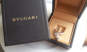 Bulgari Bvlgari B.Zero1 Diamond Pavé Charm Ring in 18K White Gold