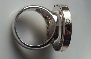 Bulgari 18k White Gold, Steel & Onyx Optical Illusion Spin Ring