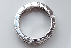 Bulgari B.Zero1 18K White Gold One Band Ring, Size 56 / O½