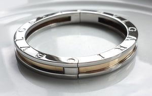 Bulgari B.Zero1, 18K Gold & Steel Bangle / Bracelet