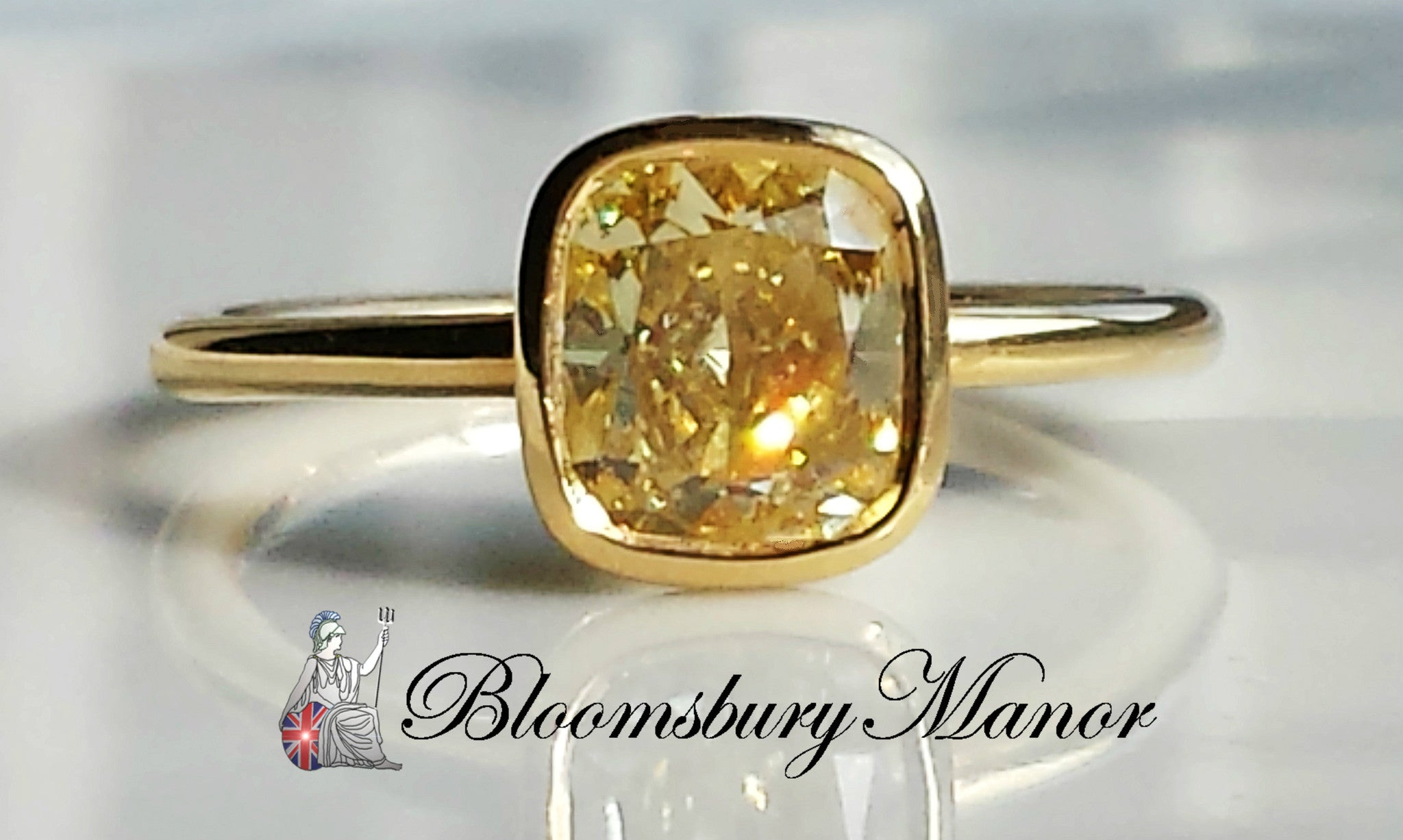 Tiffany Co 1 40ct Fancy Yellow Cushion Cut Diamond Engagement Ring Fi Vs1