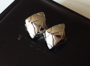 Bulgari Bvlgari Pyramid / Pyramide Earrings in 18K White Gold