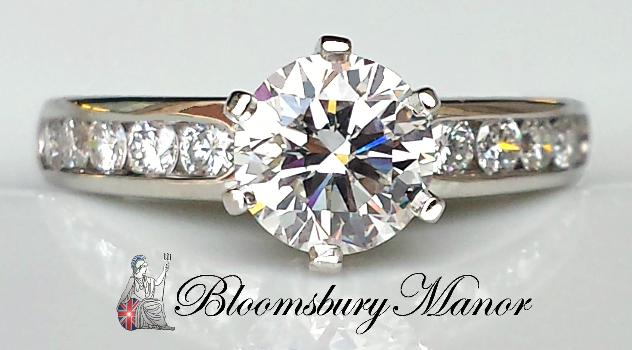 8aa6a20eb Tiffany & Co. 1.25ct G/IF Round Brilliant Cut Diamond Engagement Ring with  Channel Set Band