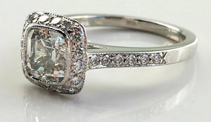 Tiffany & Co. Legacy 1.7 TCW G/VS1 Diamond & Platinum Engagement Ring