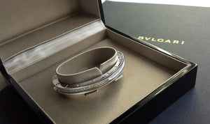 Bulgari B.Zero1 Pavé Set Diamond Bangle with Box & Bag