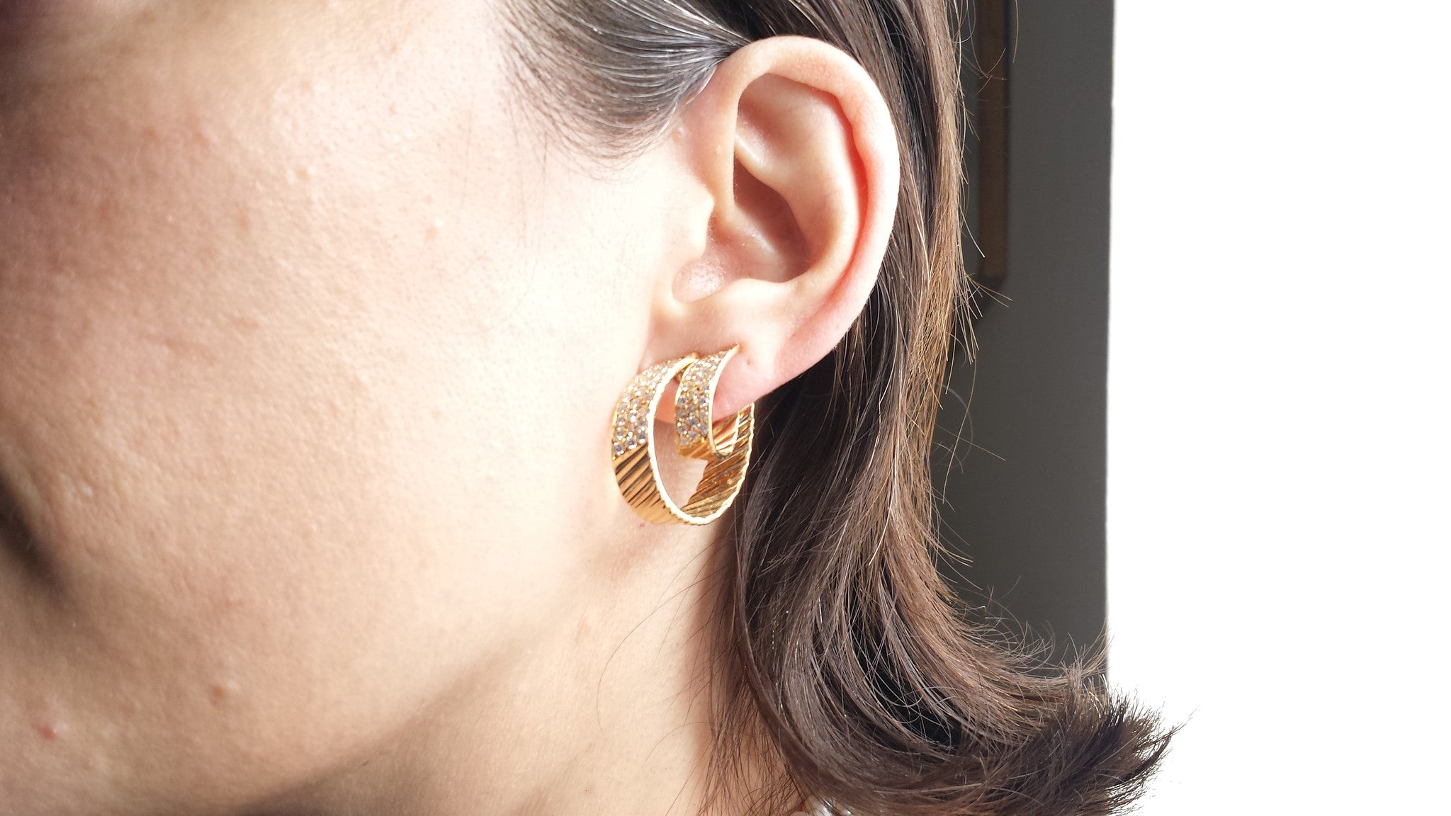 Image result for 1980's gold hoop earrings