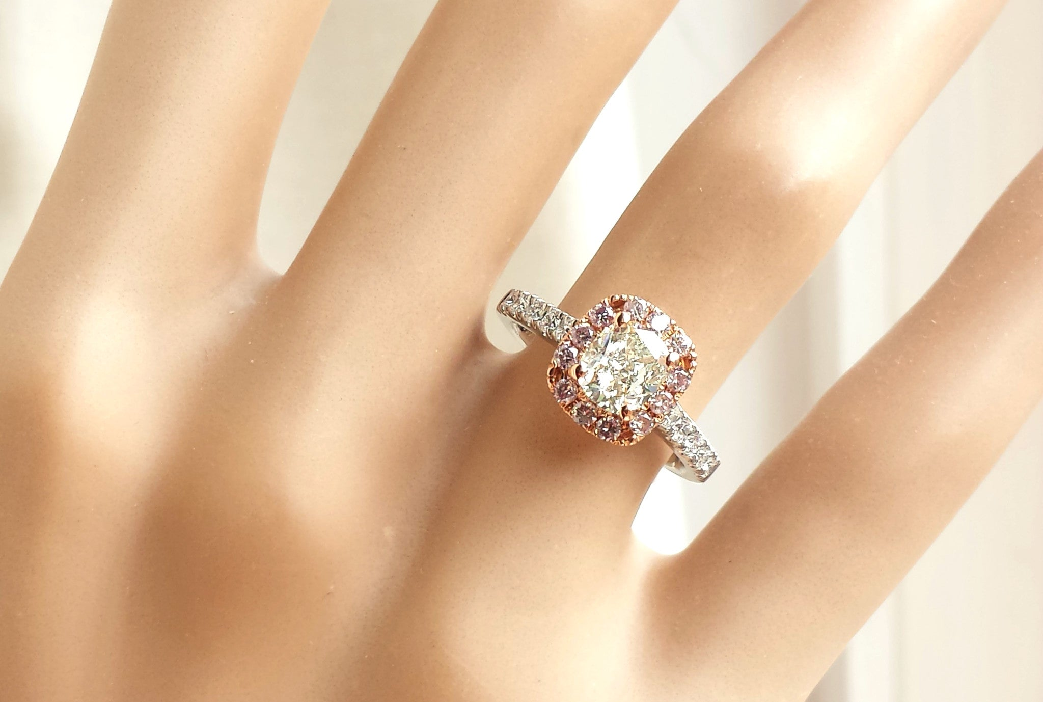 diamonds engagement white gold coloured the pink jewellery ring amp diamond rings jewellers finnies platinum image light rose